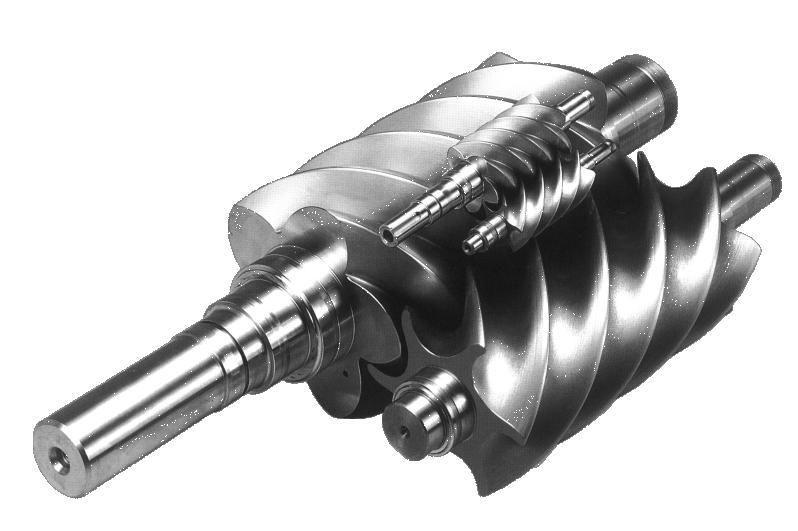 螺杆式压缩机的基本结构是在机体内平行地配置